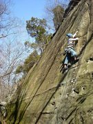 Rock Climbing Photo: Steve on Fine Nine.  This one's a thinker.  Feb. '...