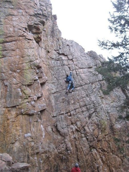 Rock Climbing Photo: In the middle of the 10-something section. Dyno is...