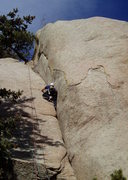 Rock Climbing Photo: Using the slab you can avoid much of the thrutchin...