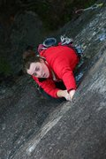 Rock Climbing Photo: Another picture of Janet on her onsight a while ag...