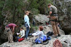 Rock Climbing Photo: Members of the ROWCC at Malibu Creek.