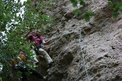 Rock Climbing Photo: Nathen taking a ride.