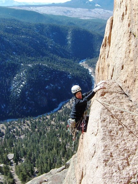 Rock Climbing Photo: Jesse setting up for the beached whale move at the...