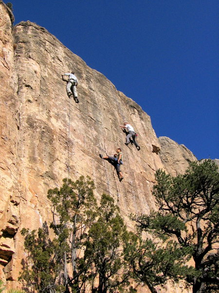 Rock Climbing Photo: A slow day on the 2150 AD Wall.