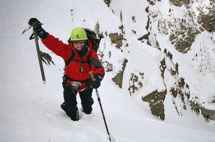 Rock Climbing Photo: Climbing the East Couloir of Hallett Peak in RMNP