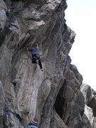 Rock Climbing Photo: River Run. You can just see the anchor draw at the...