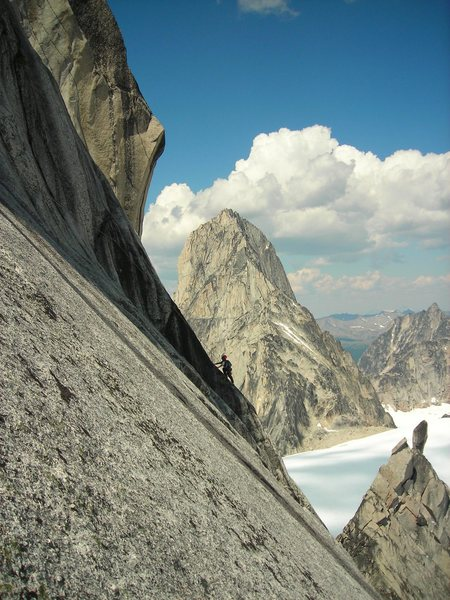 "Rock Climbing Photo: The unforgettable ""wet friction traverse&quot..."