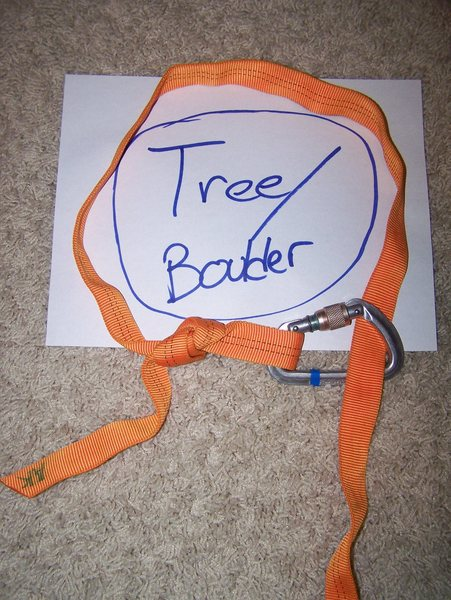 Rock Climbing Photo: Or take the carabiner out and thread the webbing t...