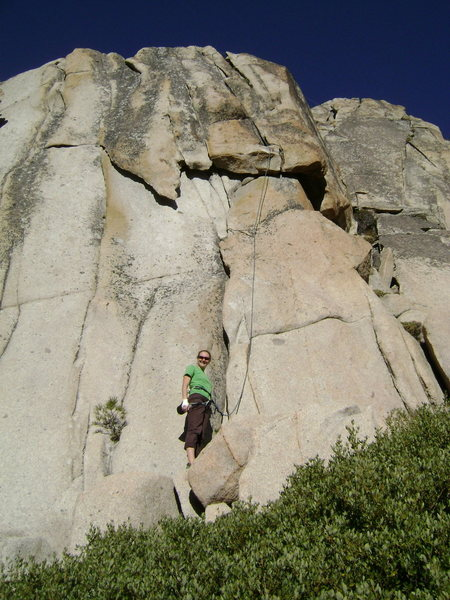 Rock Climbing Photo: Julie Gordon getting ready to sample Whisker Biscu...