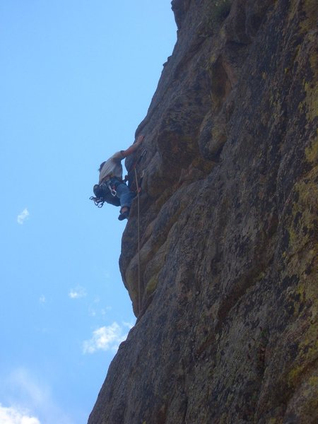 At the beginning of the crux.