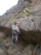 Rock Climbing Photo: G showing his strength!