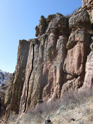Rock Climbing Photo: Far left side of The Poudre Face.