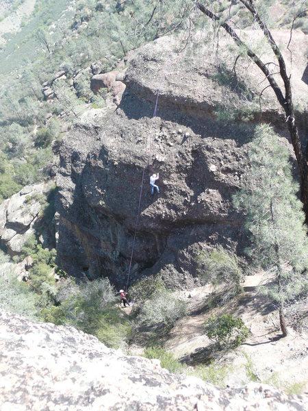 Rock Climbing Photo: Teaching Rock left from Rim Trail