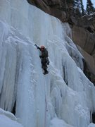Rock Climbing Photo: Brian Verhuslt leading.