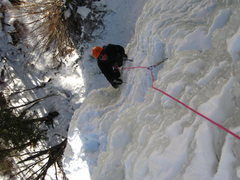 Rock Climbing Photo: Looking down the farmed ice.