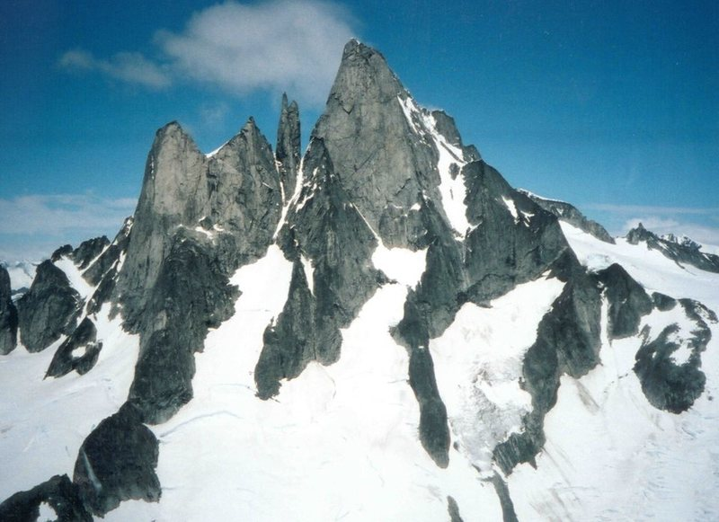 Rock Climbing Photo: Devil's Thumb from the West.  The Witch's Tits and...