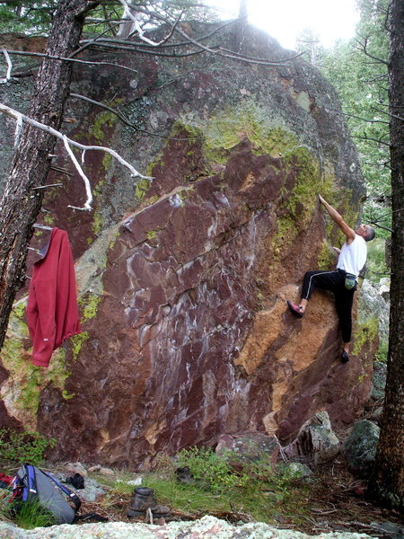 Rock Climbing Photo: Bouldering near the Maiden, on the Maiden Block, p...
