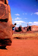 Rock Climbing Photo: BH bouldering in Monument Valley, Arizona