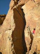 Rock Climbing Photo: Shirley sending Pack Animal Direct.