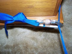 Rock Climbing Photo: Here is the way I girth hitch 1 in. webbing around...