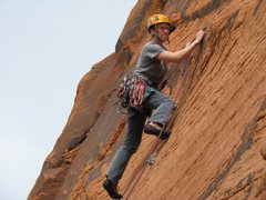 Rock Climbing Photo: Taryn finding a bit of relief from one of the few ...