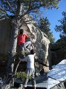 Rock Climbing Photo: Said sending the V3.
