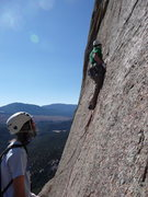 Rock Climbing Photo: Mike belaying Dave on the start to Mississippi Hal...