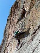 Rock Climbing Photo: Dave at the crux.