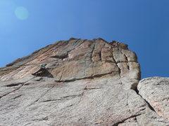 Rock Climbing Photo: Working hard on a beautiful February day.