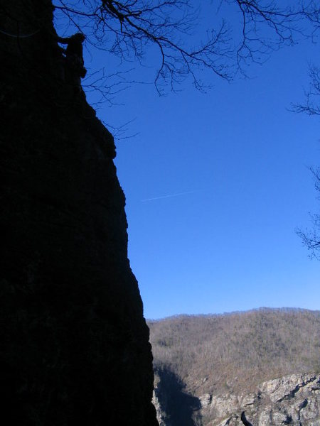 Rock Climbing Photo: Profile shot of P1. Photo taken in December of 200...