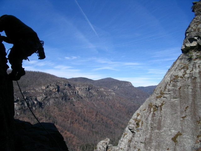 Rock Climbing Photo: Starting off on P3. Easy climbing (5.3) leads to t...