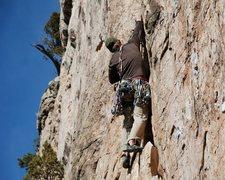 Rock Climbing Photo: Rippin' it.