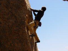 Rock Climbing Photo: dan on cardiac arette