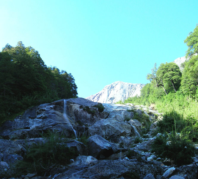 The first glimpse of pared de paz from the river bed.