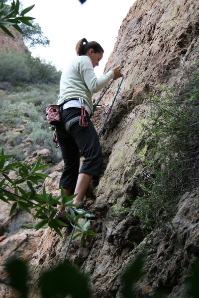 Rock Climbing Photo: ...working my way up the wall - 70 ft to the top