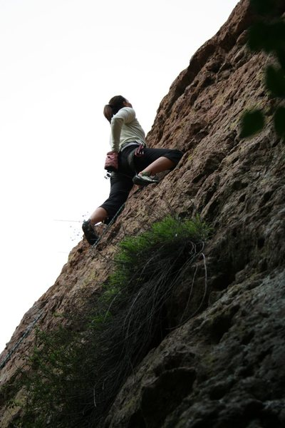 Rock Climbing Photo: almost to the top!