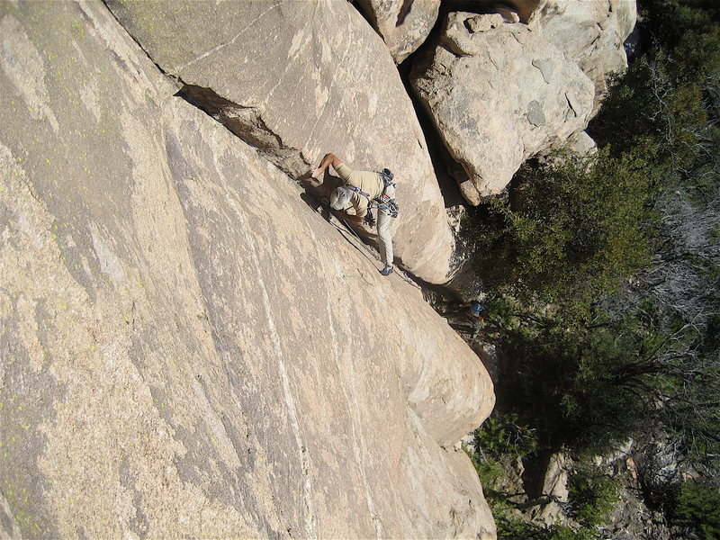 Rock Climbing Photo: Jim Scott before he caused the rest of us to have ...