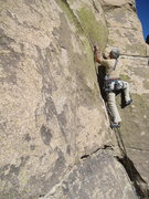 Rock Climbing Photo: Just before the last interesting moves protected w...
