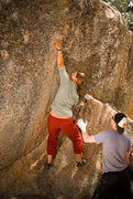 Rock Climbing Photo: Terra working the moves on the V0.