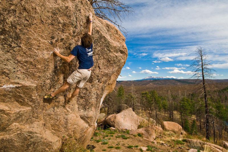 Rock Climbing Photo: Stephen working on the Air Jordan boulder with an ...