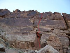 Rock Climbing Photo: Route in red