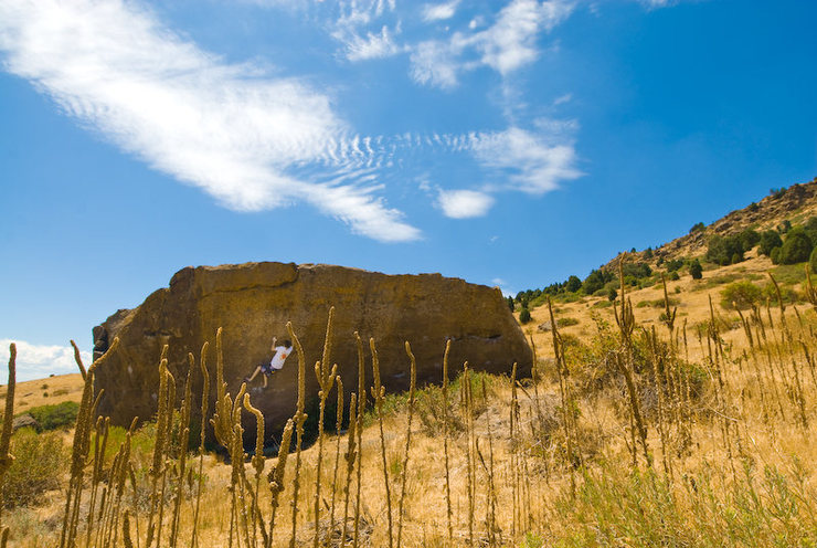Rock Climbing Photo: Chris working on his send of Ghost Dance on a warm...