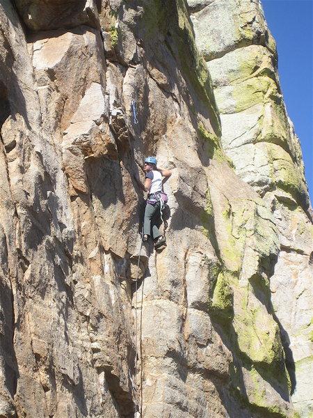 Rock Climbing Photo: Erica Bigio getting it done.