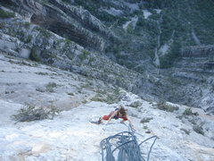 """Rock Climbing Photo: Second to the last pitch on """"Land of the Free..."""