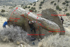 Rock Climbing Photo: View of the north side problems. Dan is moving int...