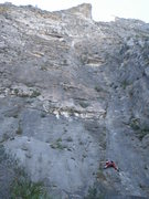 """Rock Climbing Photo: Climber on the 3rd pitch of """"Land of the Free..."""