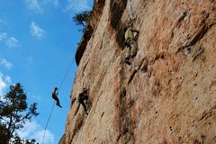 Rock Climbing Photo: The Bank: (L-R) Banking on the Future No Rest for ...