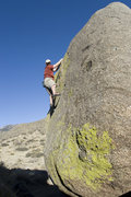 Rock Climbing Photo: V2 highball with a tricky mantle start (much easie...