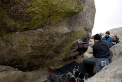 Rock Climbing Photo: The Corridor Problem (V6/7) start. Located on the ...