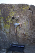 "Rock Climbing Photo: ""Driftwood"" direct V6/7. Also known as t..."